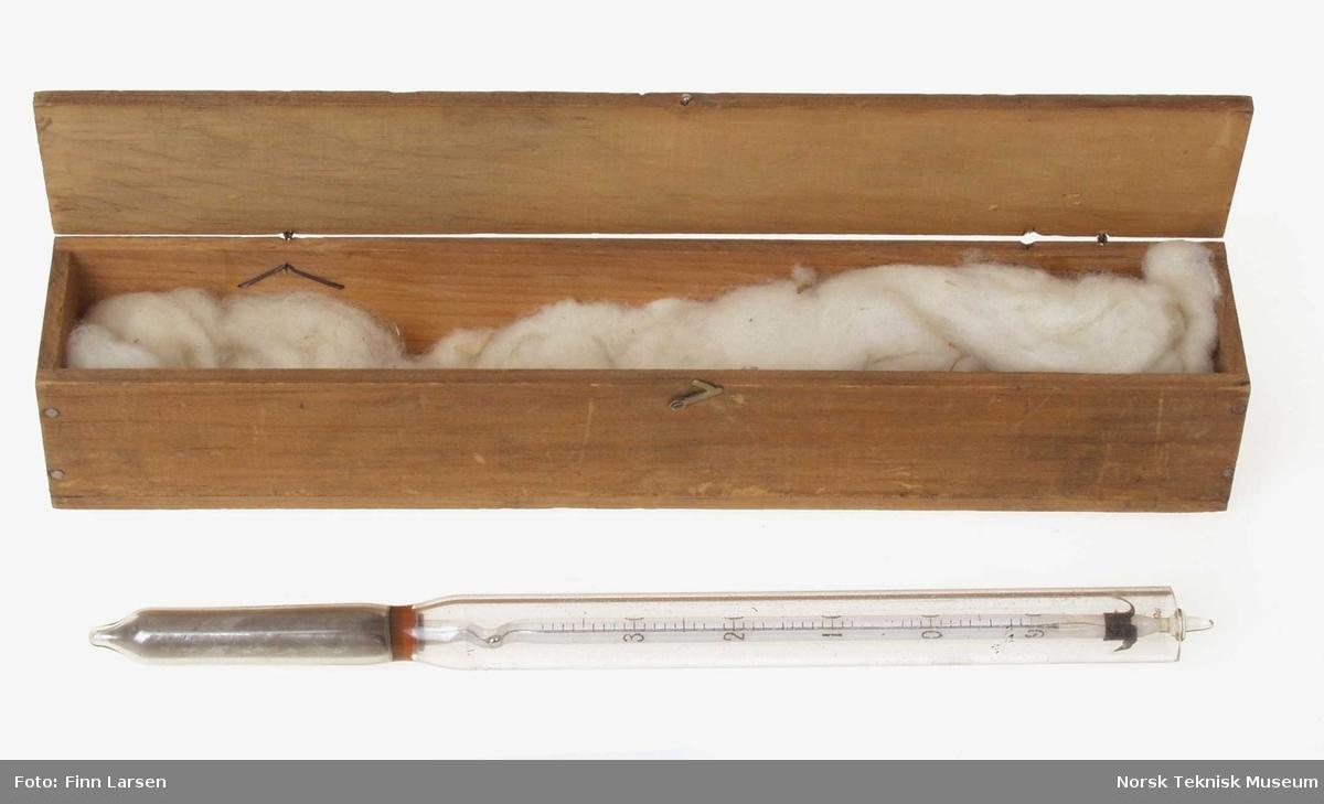 Termometer i egen kasse