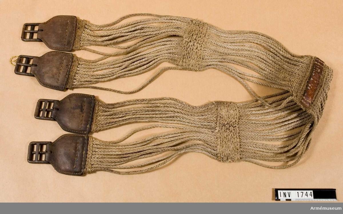 Sadelgjord t sadel m/1900, f kavalleriet.Överlämnad från MFV.