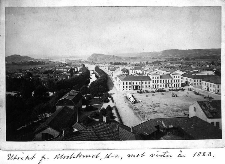 Utsikt från Klocktornsberget 1883