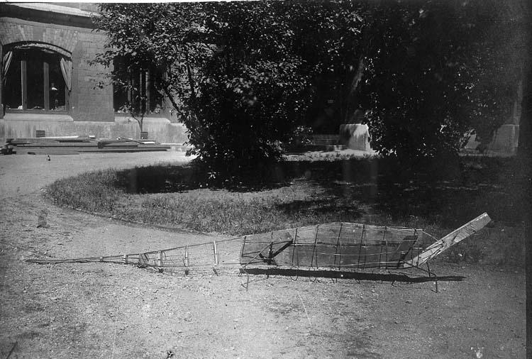 Montering av nilkrokodil för Bohusläns museums räkning i juli 1918