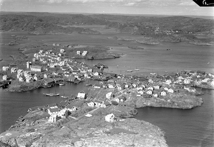 Flygfoto Klädesholmen 1935.