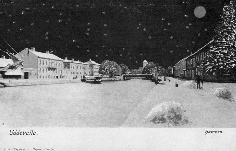 Uddevalla. Hamnen. C. R. Högströms Pappershandel.