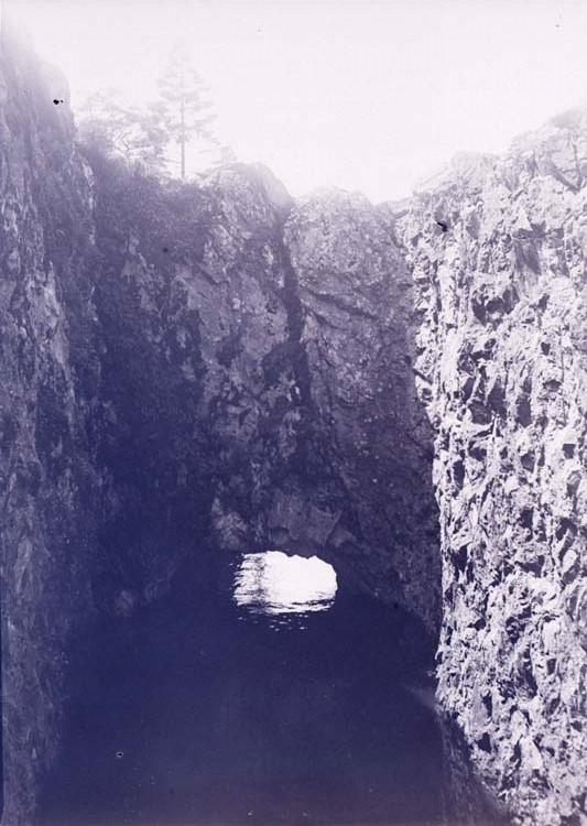 Elvius sluss vid Flottbergsbron över Göta älv, Trollhättan i juni 1910