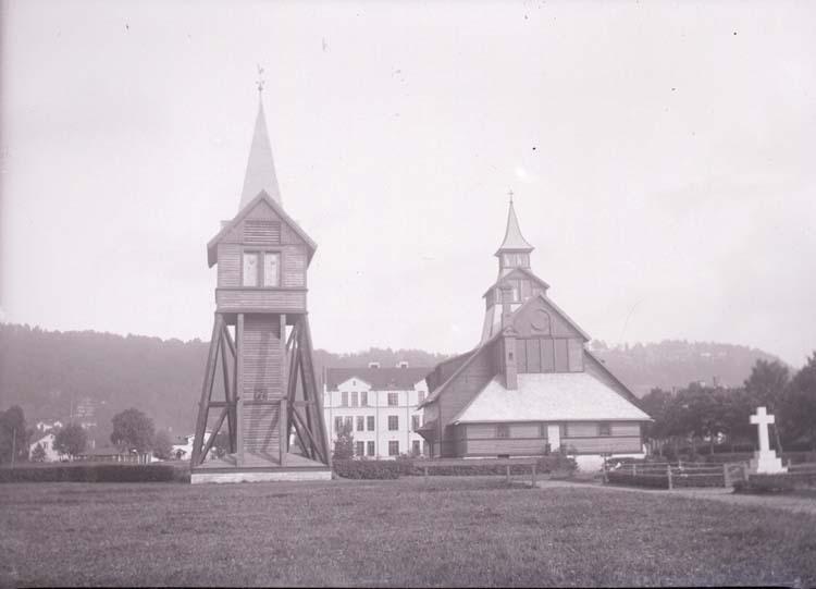 """Enligt text som medföljde bilden: """"Huskvarna, kyrkan 28/9 08""""."""