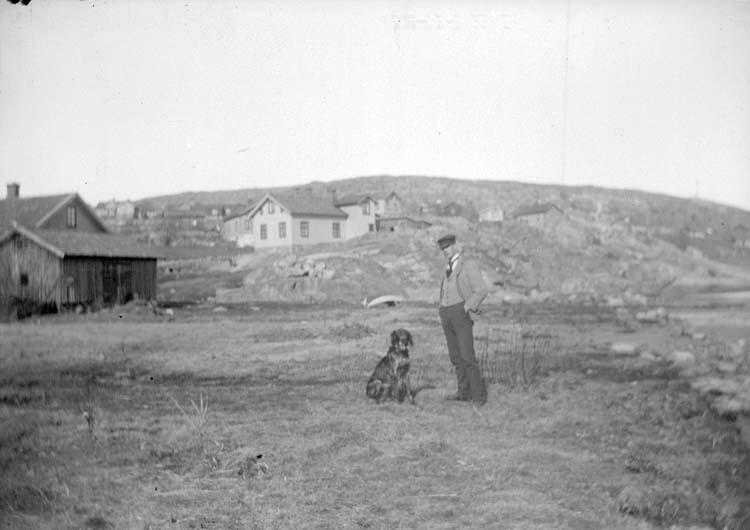 """Enligt text som medföljde bilden: """"Lysekil. Hjalmar C. med """"Frej"""" 1899""""."""