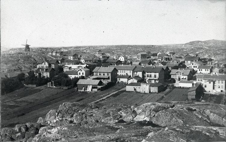 """Enligt text som medföljde bilden: """"Utsikt fr. Flaggberget 1887 Foto m. Jacobson Nr. 102 i albumet."""""""