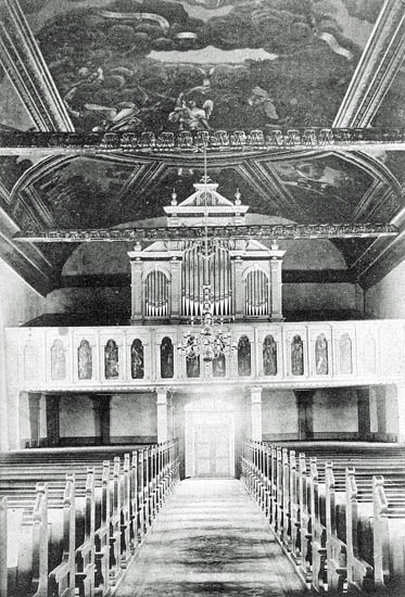Interiör af Svarteborgs kyrka.