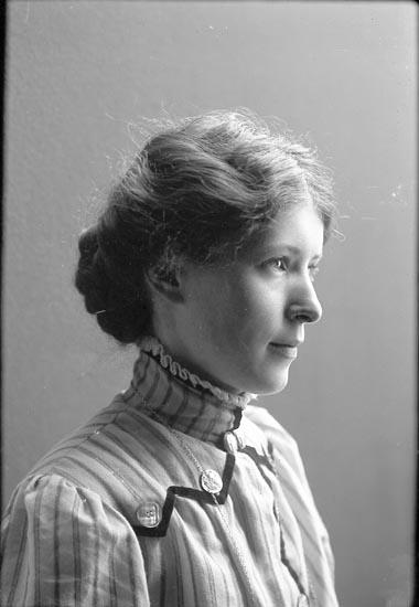 Fotograf Selma Sahlberg, självporträtt 1909