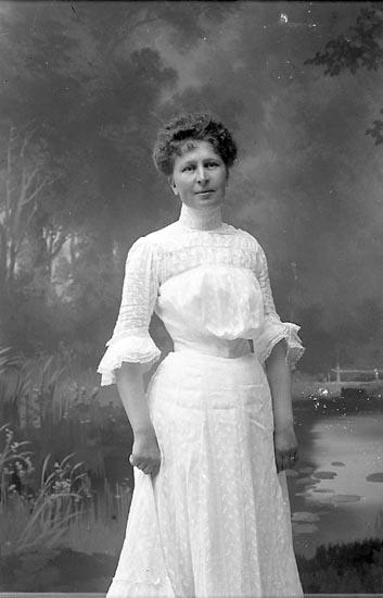 "Enligt fotografens journal nr 1 1904-1908: ""Sahlberg, Fr. Amalia Wenersborg""."