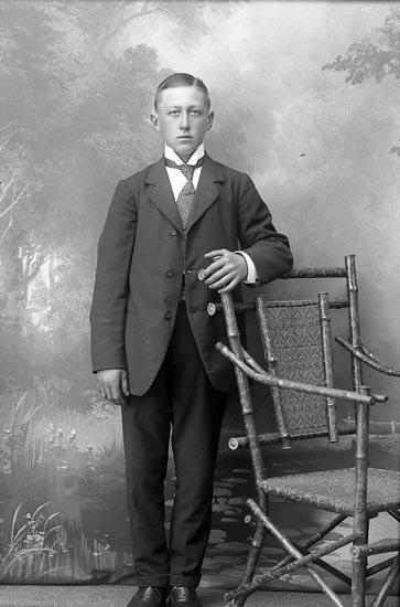 "Enligt fotografens journal Lyckorna 1909-1918: ""Samuelsson, E. Axholmen Ljungskile""."