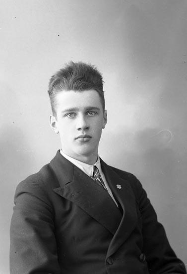 """Enligt fotografens journal nr 6 1930-1943: """"Johansson, Arne, Kärr, Stenungsund""""."""