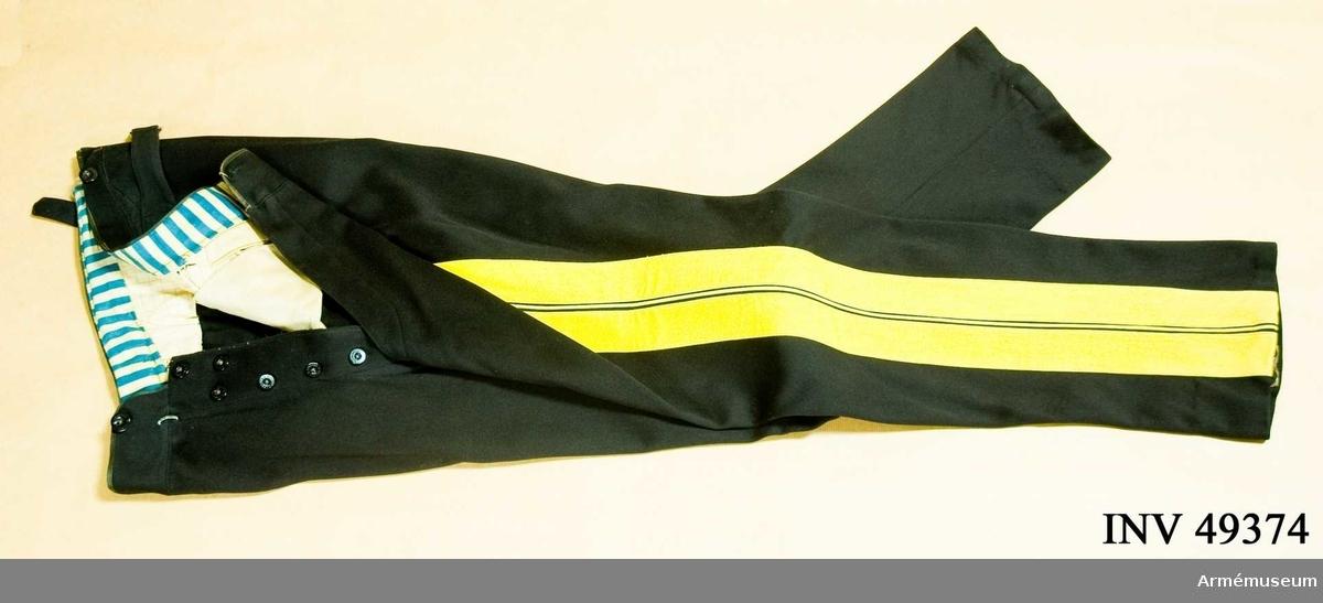 Grupp C I. Ur uniform (daglig dräkt) för major vid generalitetet. Består av  vapenrock, långbyxor, sabelhandrem, ägiljett och epåletter. Buren av överstelöjtnant A. Wester vid Kungliga Dalregementet.
