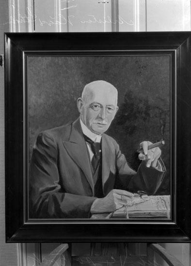 """Uppgift enligt fotografen: """"Porträtt: Borgmästaren Karl Rasmusen 1936."""""""
