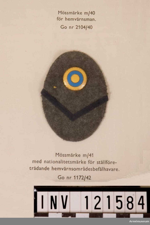 Mössmärke m/1941