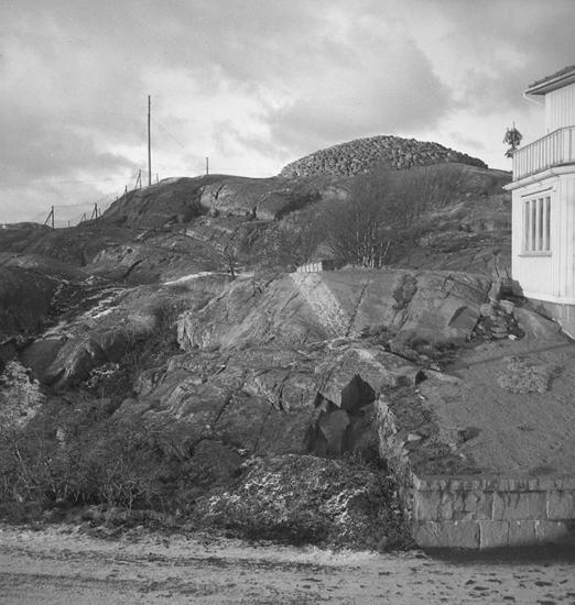 """Text till bilden: """"Byggm. Wallen. Tomt vid Gullmarsgatan. 1949.01.04""""             i"""