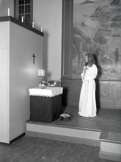 "Text till bilden:""Lucia utan krona""."