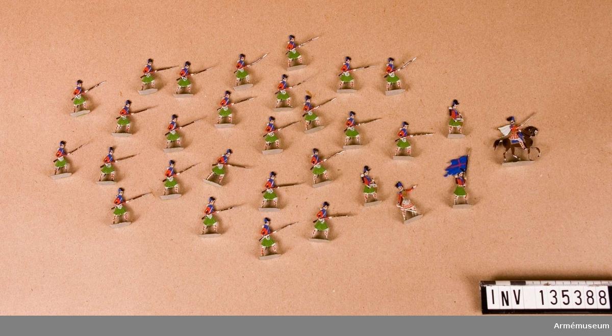 Föreställer skotskt infanteri.