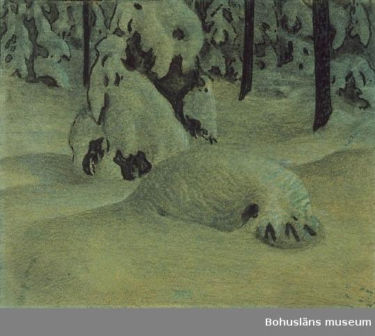 Montering/ram: Passepartout, Tillkomstort Björkhöjden, Värmland. För uppgifter om konstnären Ragnar Ljungman, se RL001.