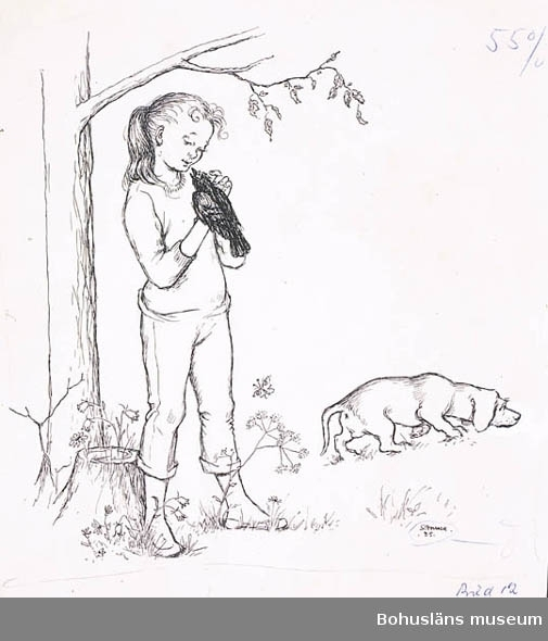 Illustrationer o. skisser till en barnberättelse? Övrig historik se UM71.03.001.