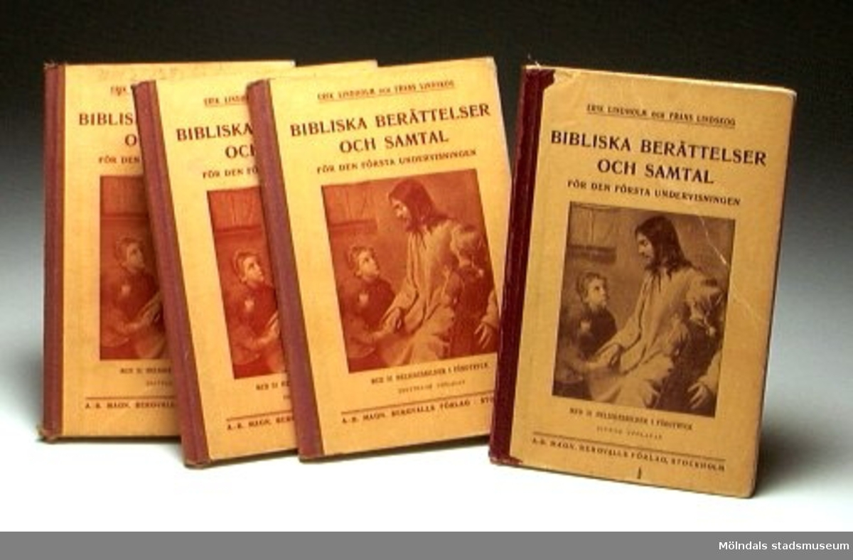 Fyra st bibliska berättelser och samtal.