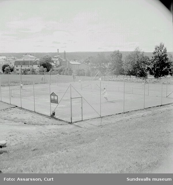 Tennisbanor vid Folkets Park, Västermalm.