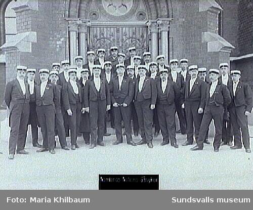 Grupporträtt, Norrlands Nations sångkör.