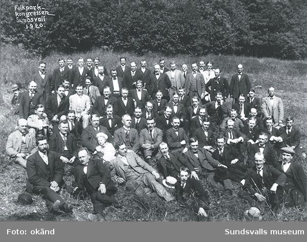 Folkparkskongress i Sundsvall 1920.