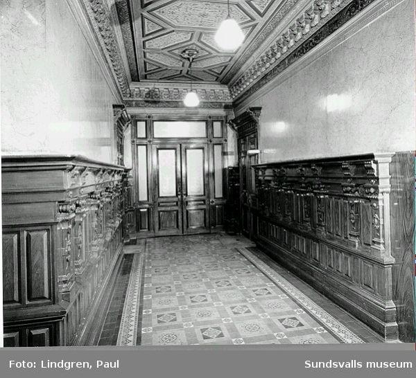 Hedbergska huset, Kyrkogatan 26  Interiör, trapphallen