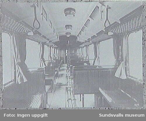 Interiör av spårvagn.