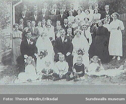 Bröderna Gunnar och Verner Johnsons dubbelbröllop i Vivstavarv