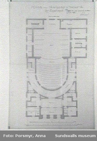 Originalritning. Plan, bottenvåningen.