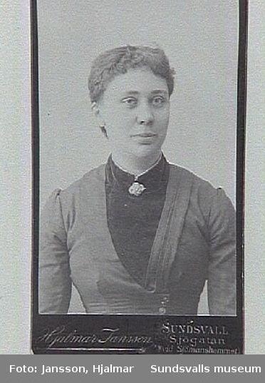 Erika Josefina Sjöman f 1863 i Sävar. Lärde laga mat på hushållsskola i Umeå. Därefter flyttade familjen till Sundsvallstrakten.dottern Erika arbetade inom restaurangbranscen i Sundvall, medan mor o far bodde på Östrand,där fadern arbetade. Erika gifte sig 1906 med g v Lindström.