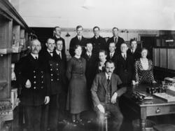Personal på postkontoret Ängelholm, 1934.