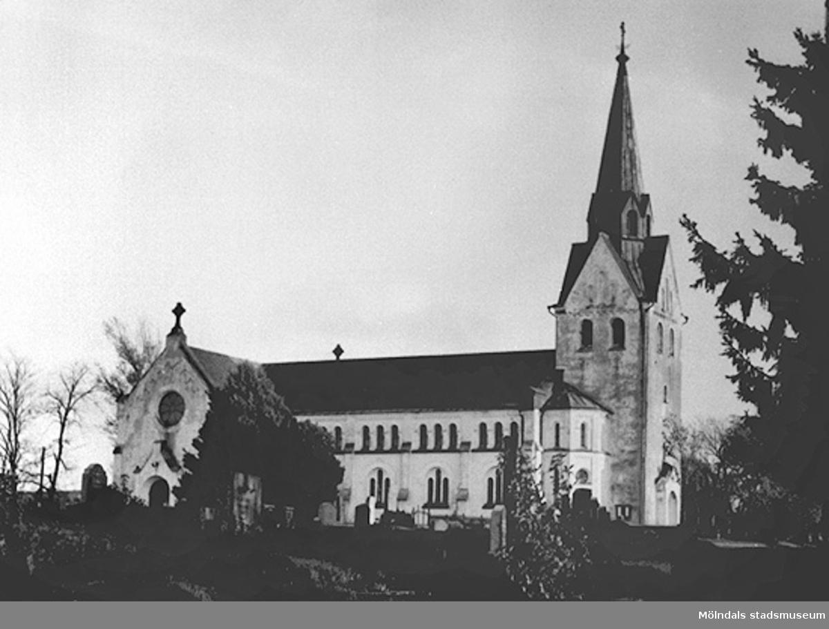Lindome kyrka, cirka 1930 - 50-talet.
