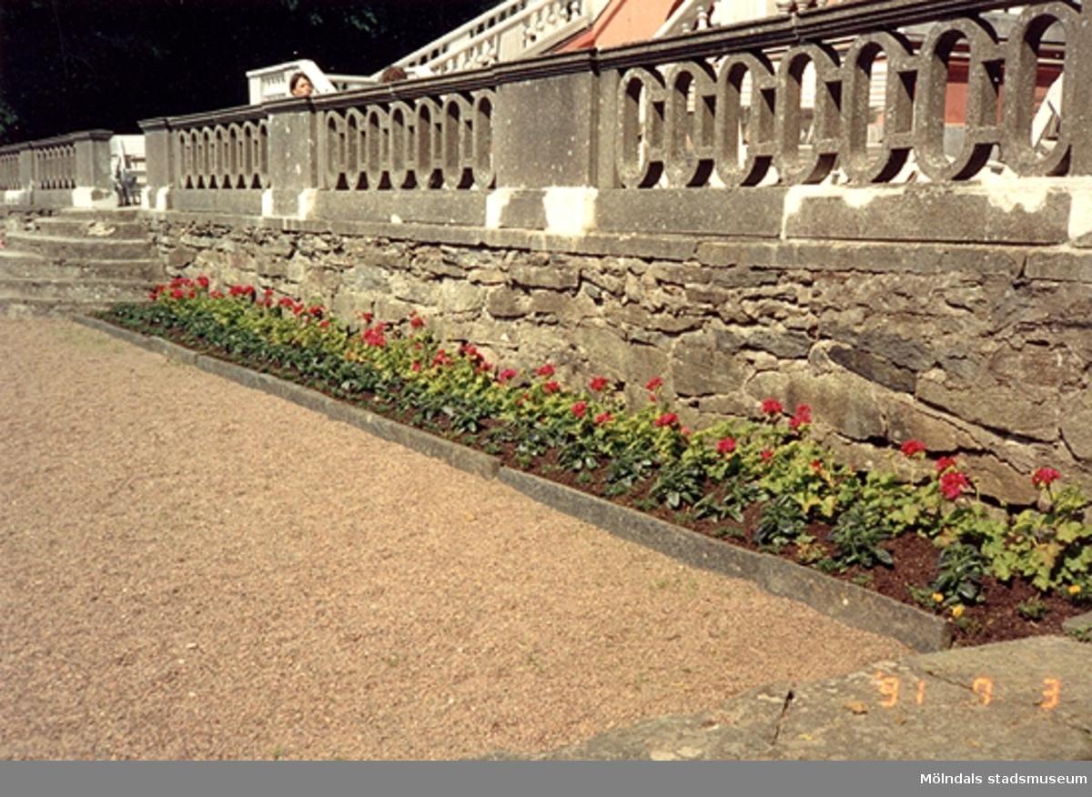Ett staket runt Gunnebo slott, juli 1991.