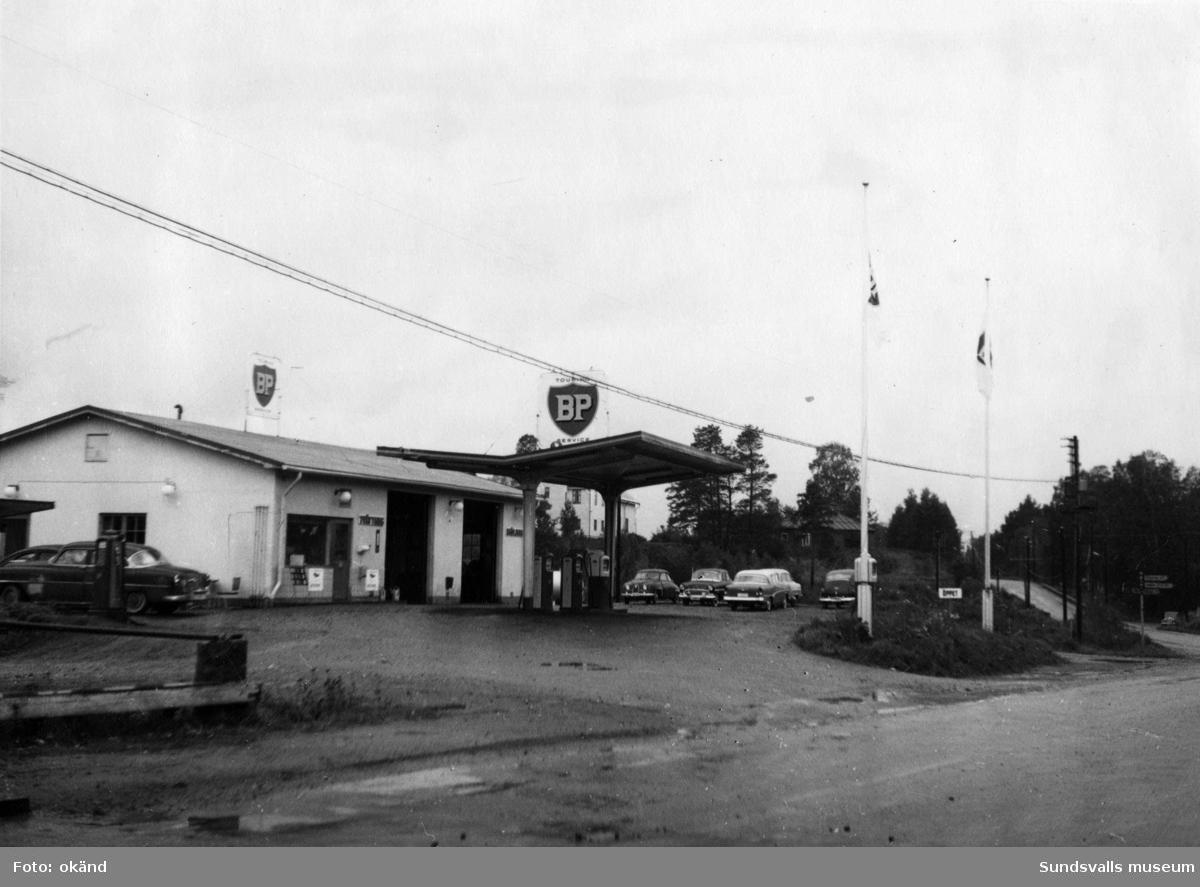 BP-stationen Torpshammar, Ånge. Köpman: Einar Mattson.