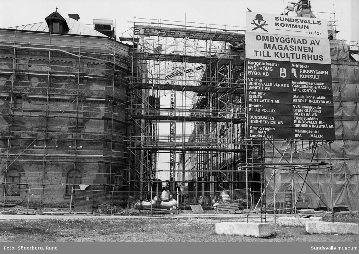 Ombyggnad av magasinskvarteren till Kulturmagasinet.