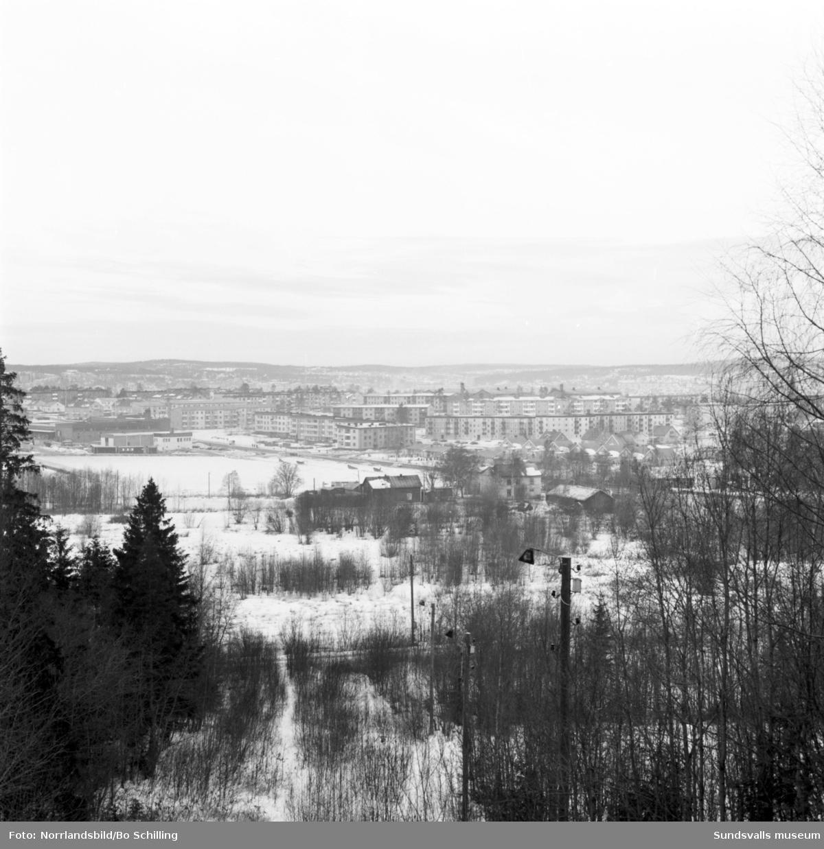 Område i Kubikenborg, fotograferat för Centrala Byggnadskommittén.