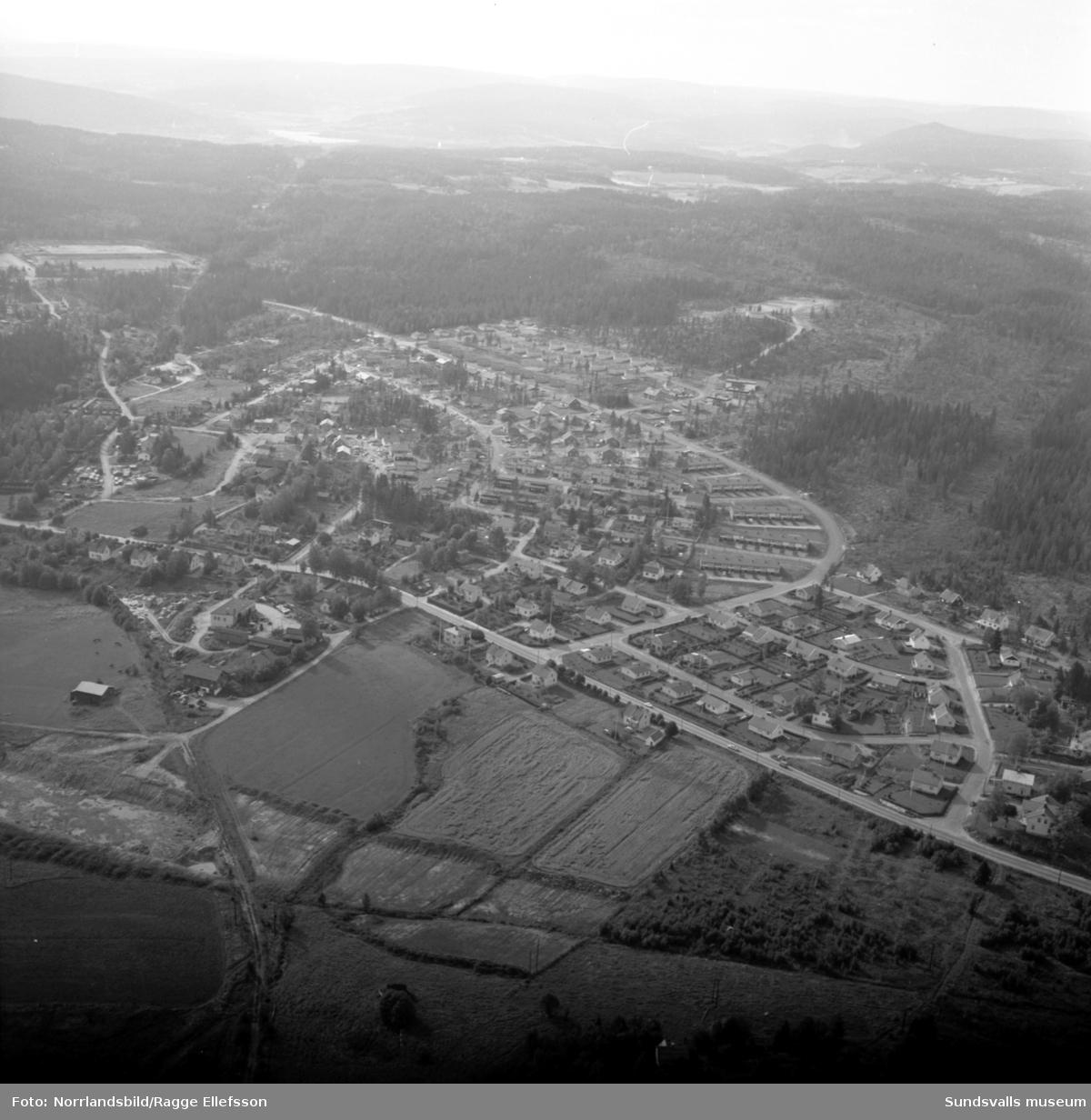Flygfoto över Bydalens villaområde.