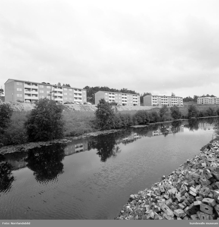 Exteriörbilder av husen vid Högomsvägen, Selångersån.