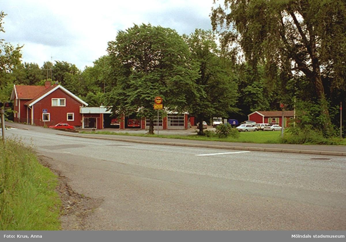 Lindome gamla brandstation sedd från nordväst. Annestorp 2:296.