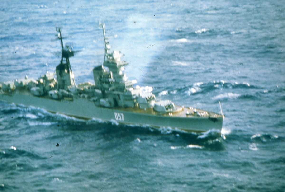 Russisk fartøy av Sverdlov - klassen med nr. 057.