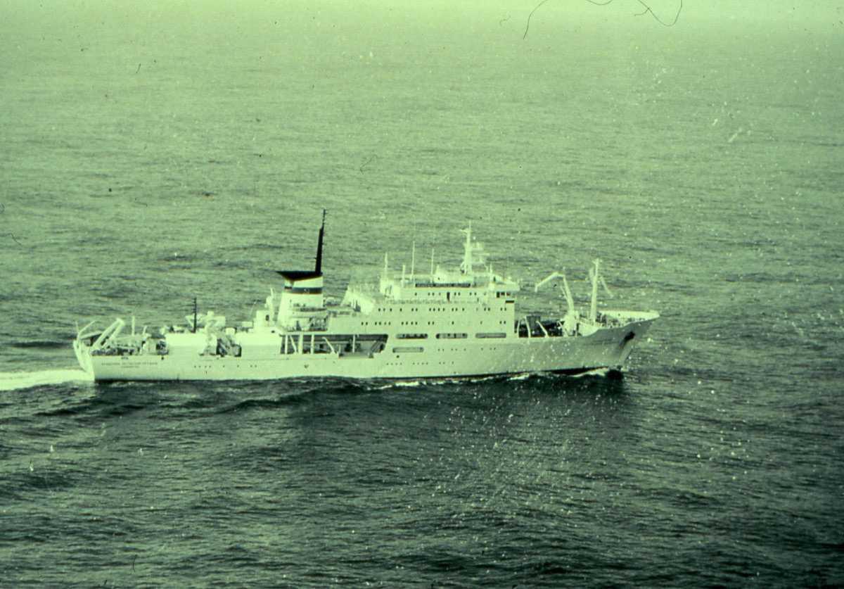 Russisk fartøy av 1 A A Krylov and 2 A N Andreyev - klasser og navnet er Akademik Boris Konstantinov.