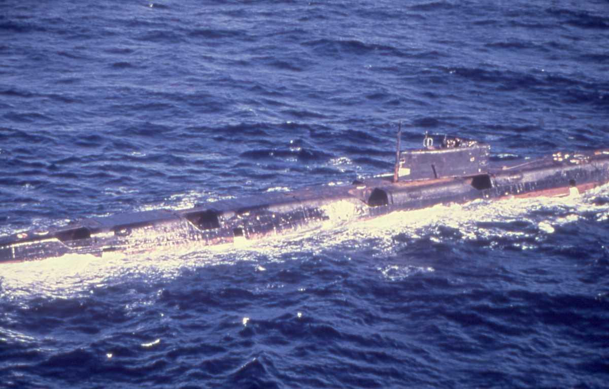 Russisk ubåt av Echo II - klassen.