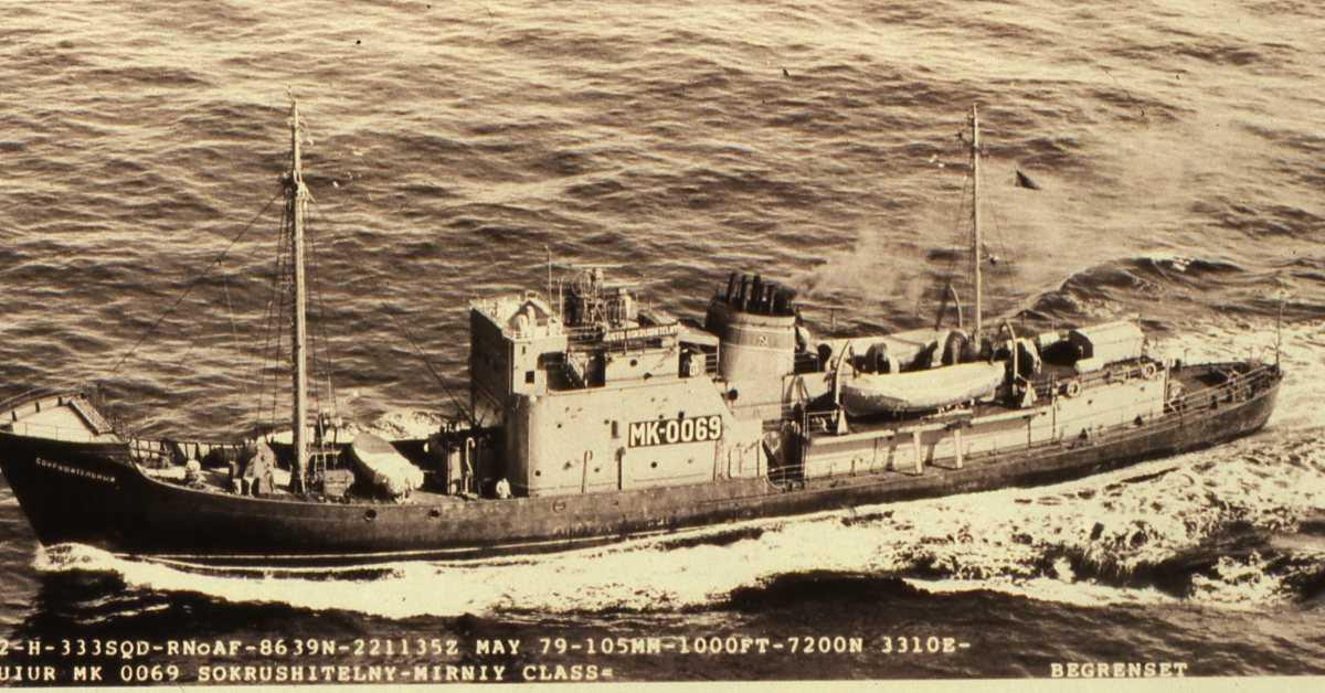 Russisk fartøy av Mirny - klassen med nr. MK 0069 og som heter Sokrushitelny.