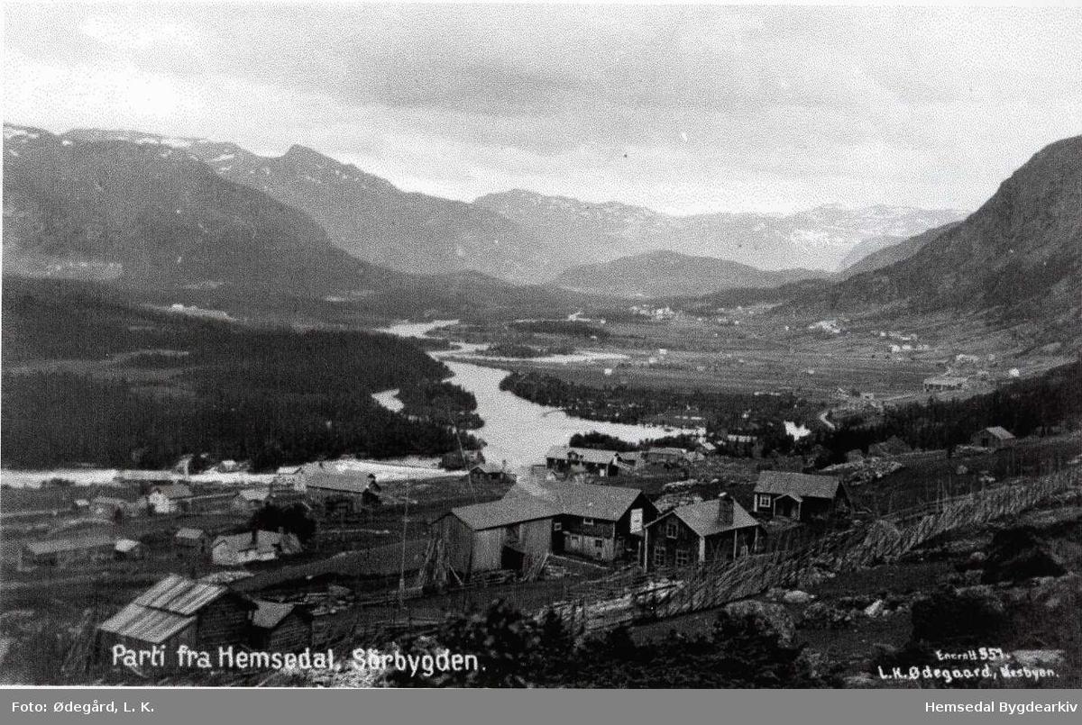 Frå Ulsåk mot Trøym sentrum, ca. 1920.