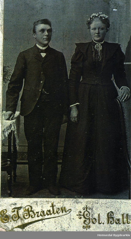 Ola Langehaug, fødd 1869, og Margit, fødd 1876 Ålrust, gift Langehaug Båe frå Hemsedal