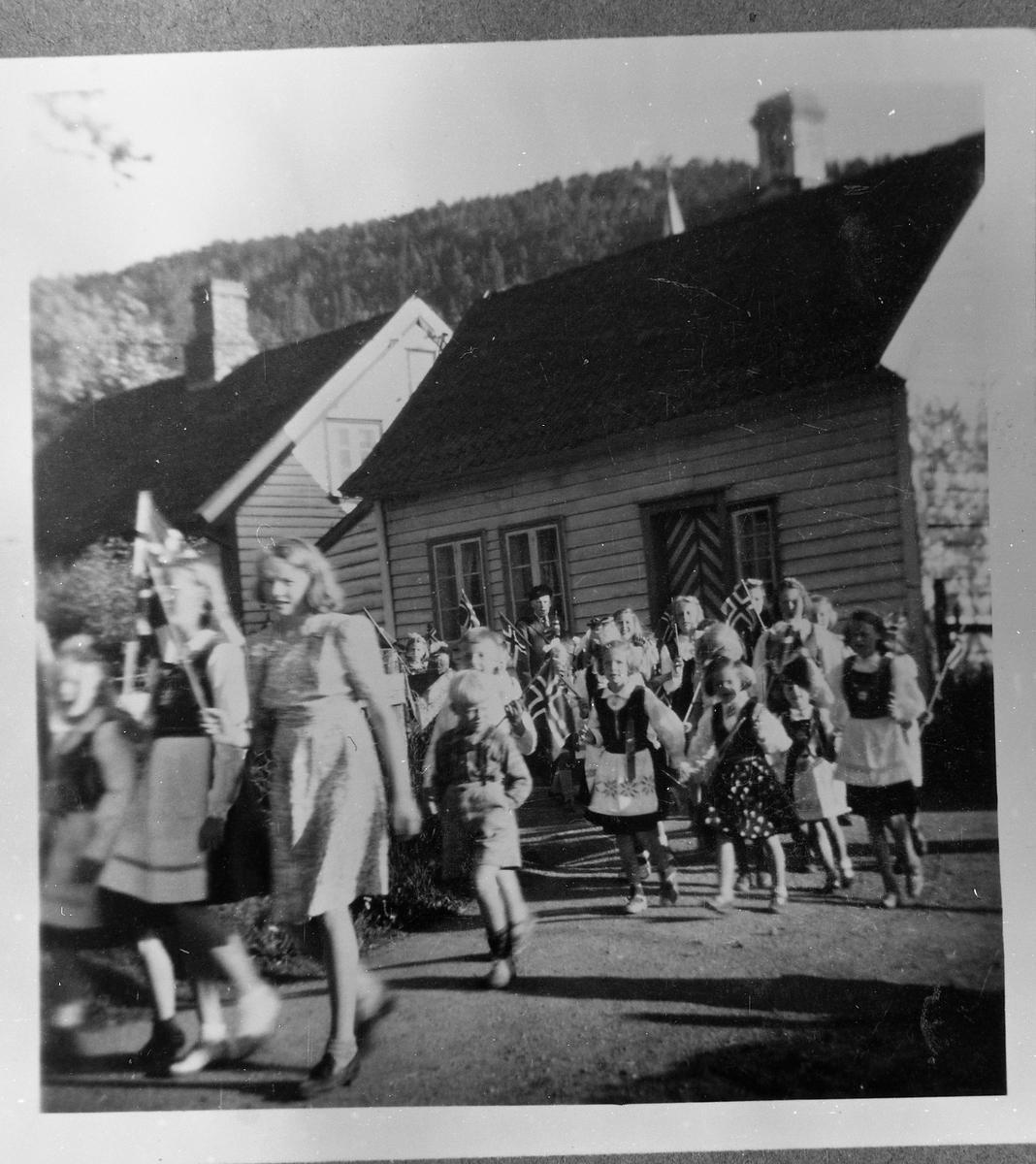 17. mai-tog, barn, flagg