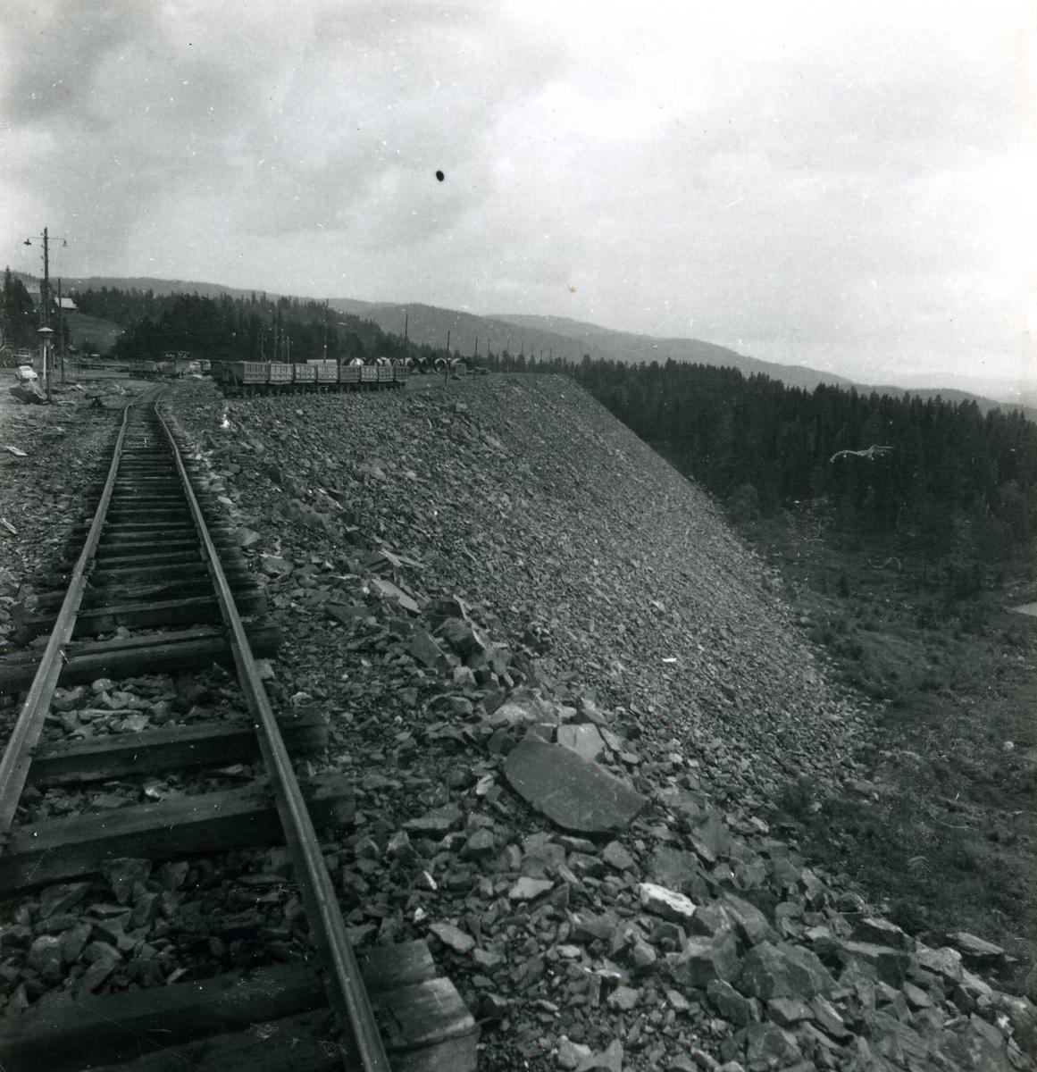 Tilløpstunnel frå Vesås. Jernbane.