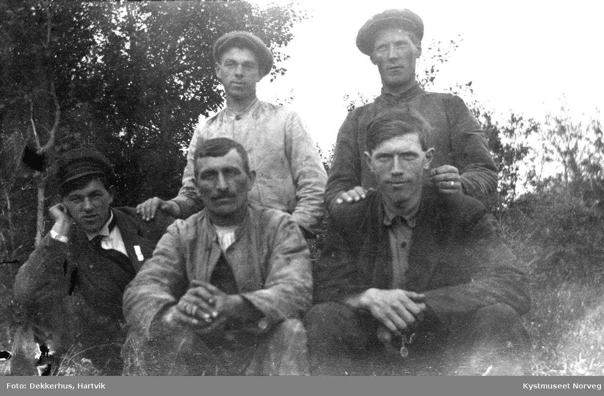 Einar, Ingvar og Hans Ofstad, Otto Ofstad og Jakop Johansen